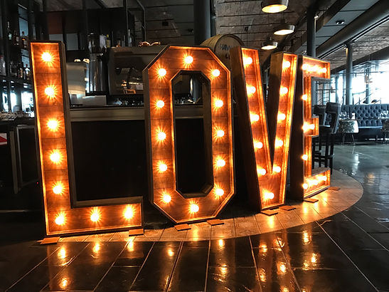 5ft Rustic LOVE letters