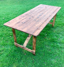 6ft Rustic Trestle Table Hire