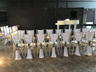 Chiavari chairs at The Titanic Hotel, Liverpool