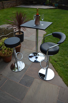 Poseur table with bar stools Wirral