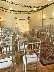 Chiavari chairs at Trafford Hall