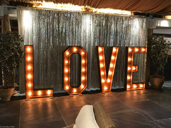 5ft rustic love light up letters
