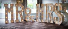 5ft Mr&Mrs light up letters
