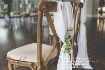 Rustic Tables and Cross Back Chair Hire