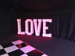 "5ft dmx controlled LED light up ""love"" letters"