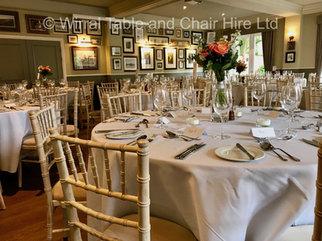 Chiavari chairs at The Little Fox, Thornton Hough, Wirral