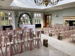 Chiavari chairs at Willington Hall, Tarporley