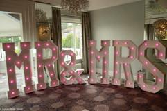 5ft high Mr & Mrs Light up Letters