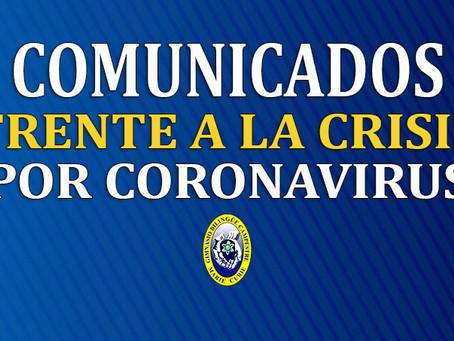 COMUNICADO NO. 11 FRENTE A LA CRISIS POR CORONAVIRUS