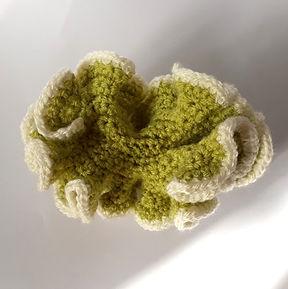 crochet coral handmade diy free pattern green white hyperbolic ravelry pinterest fat cat crochet