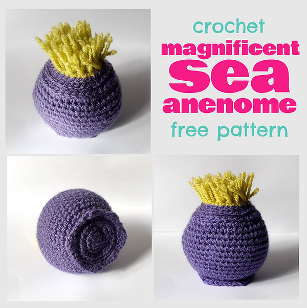 crochet magnificent sea anemone handmade diy free pattern crochet coral reef ravelry pinterest fat cat crochet