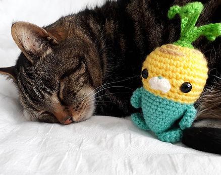 amigurumi crochet toy handmade free pattern tunip vegimal octonauts tabby cat