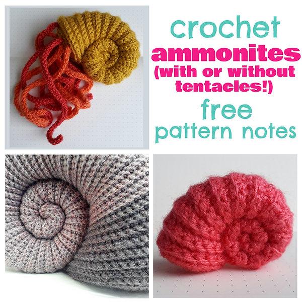 crochet ammonite tentacles handmade diy free pattern notes crochet coral reef ravelry pinterest fat cat crochet