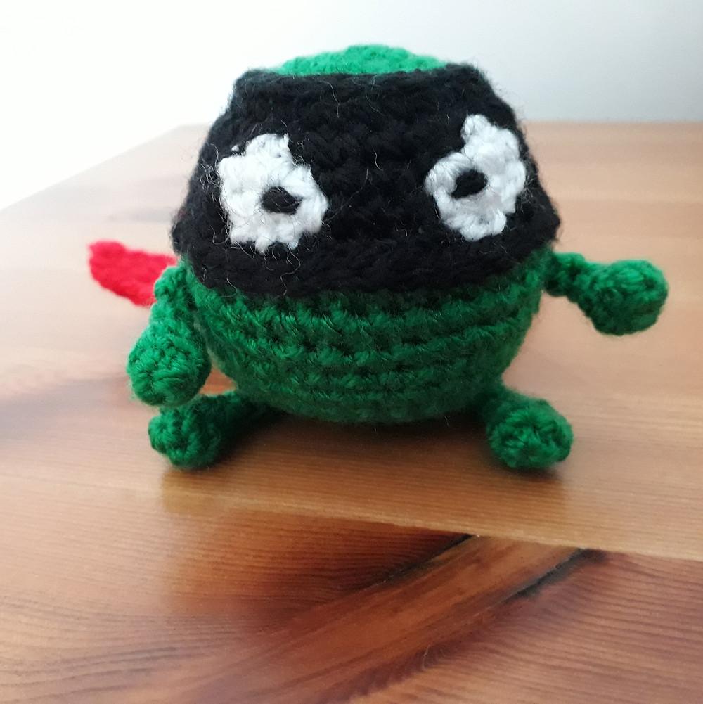 crochet evil pea from supertato books