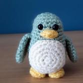 little amigurumi penguin
