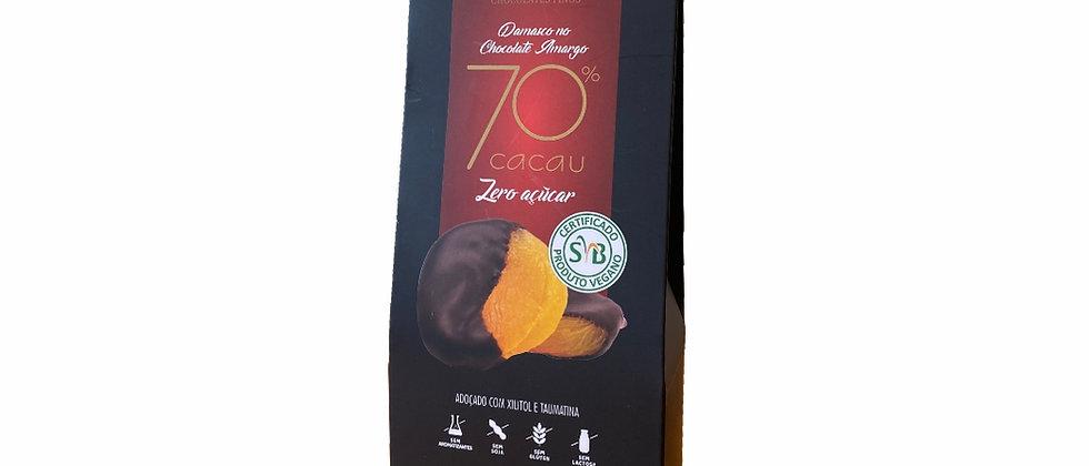 Damasco no Chocolate Amargo 70% Cacau Zero Açúcar - 80g