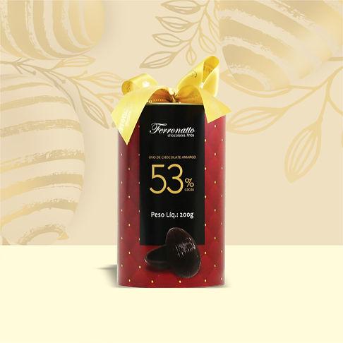 Tubo Ovo Chocolate Meio Amargo 53% Cacau