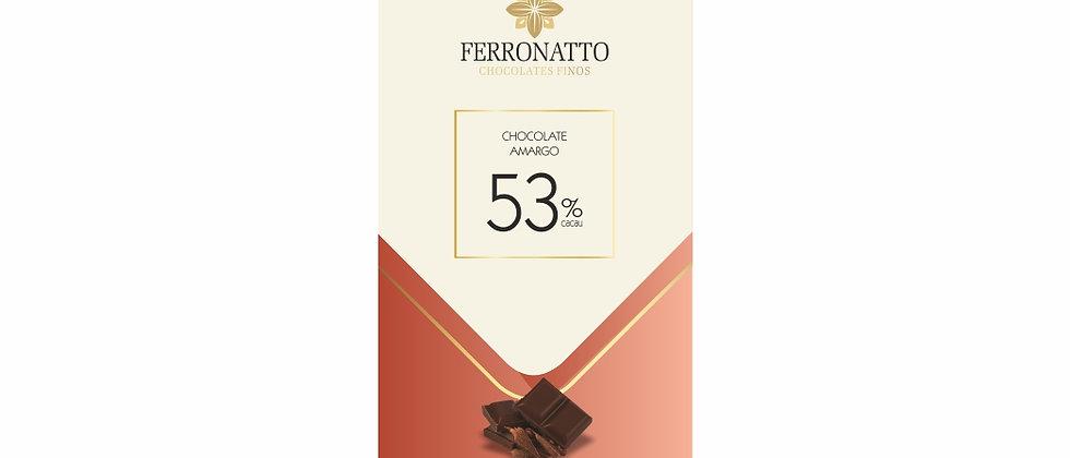 Barra Chocolate Amargo 53% Cacau - 80g