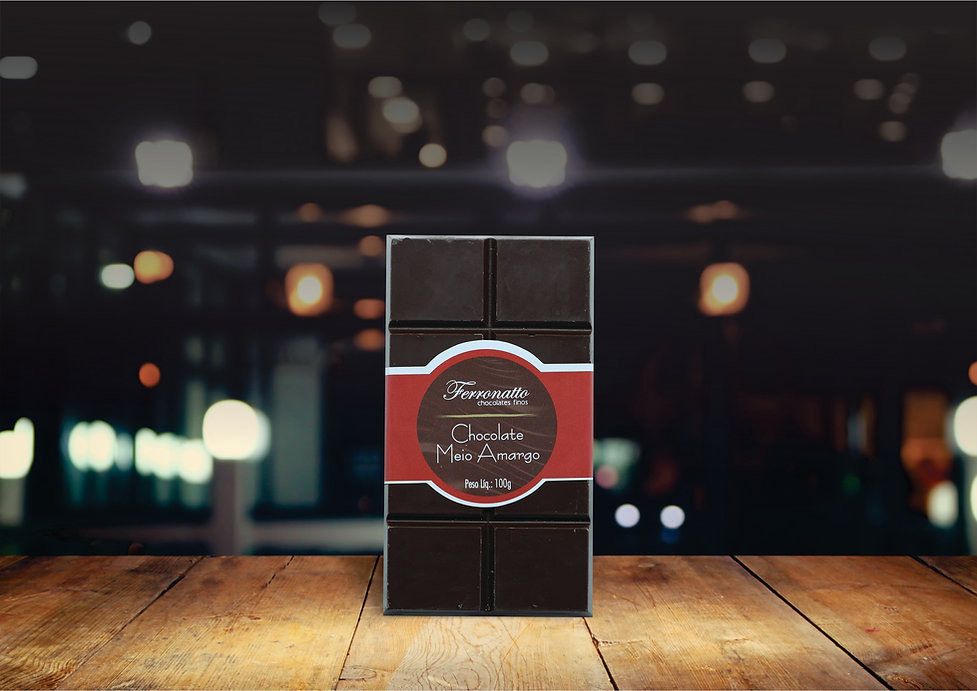 Barra Chocolate Meio Amargo 100g