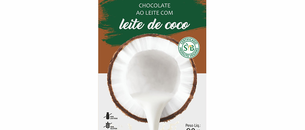 Barra de Chocolate ao Leite de Coco - 90g