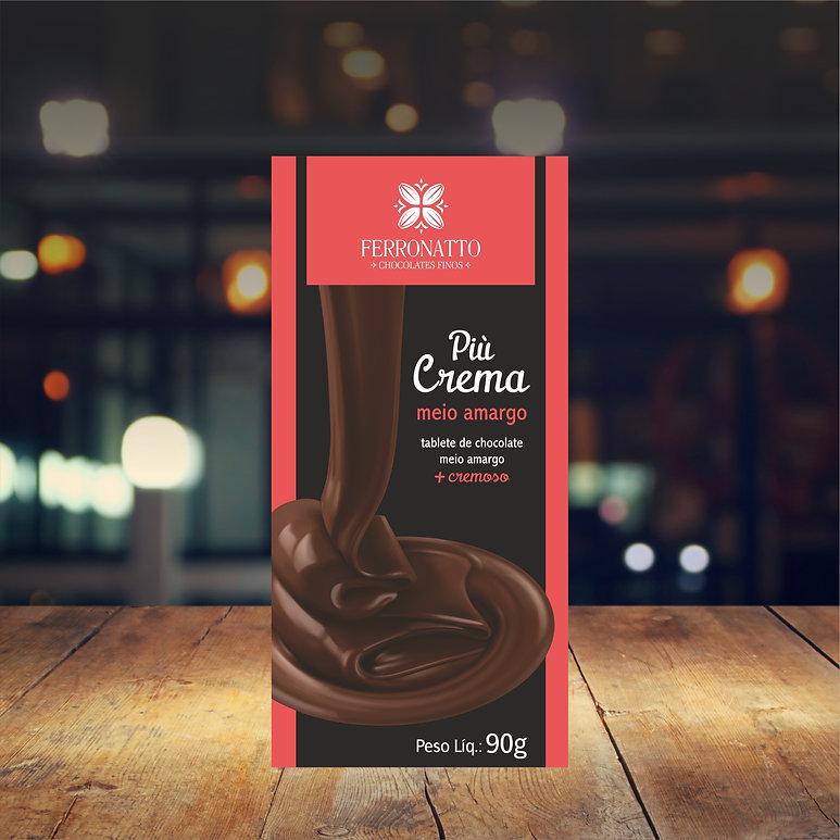barra pio crema chocolate meio amargo 90