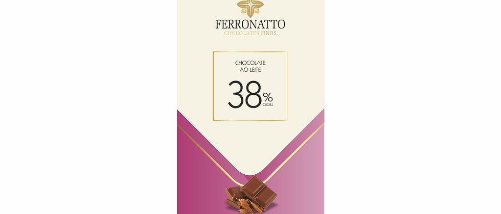 Barra Chocolate Ao Leite 38% Cacau - 80g