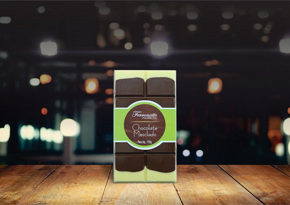 Barra Chocolate Mesclado 100g