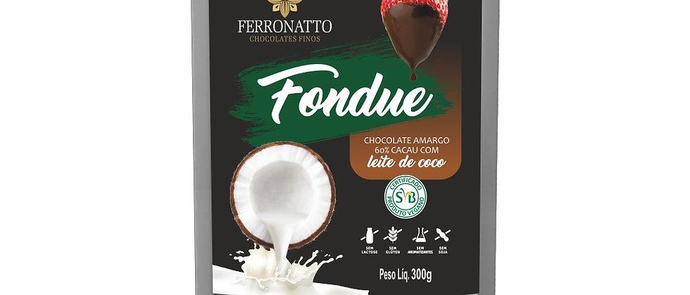 Fondue de Chocolate Amargo 60% Cacau com Leite de Coco - 300g