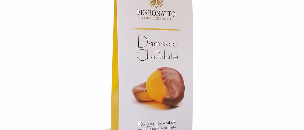 Caixa Damasco com Chocolate ao Leite - 80g