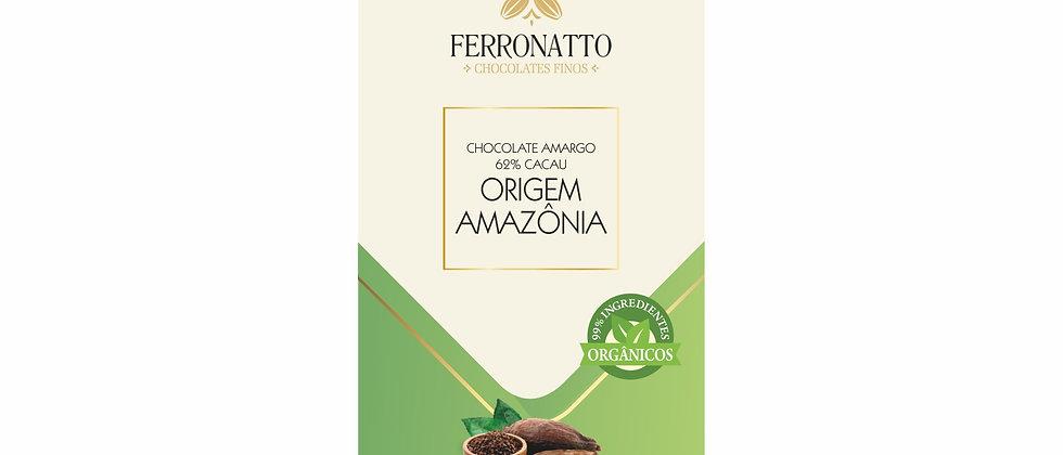 Barra Chocolate Amargo 62% Cacau Origem Amazônia - 80g