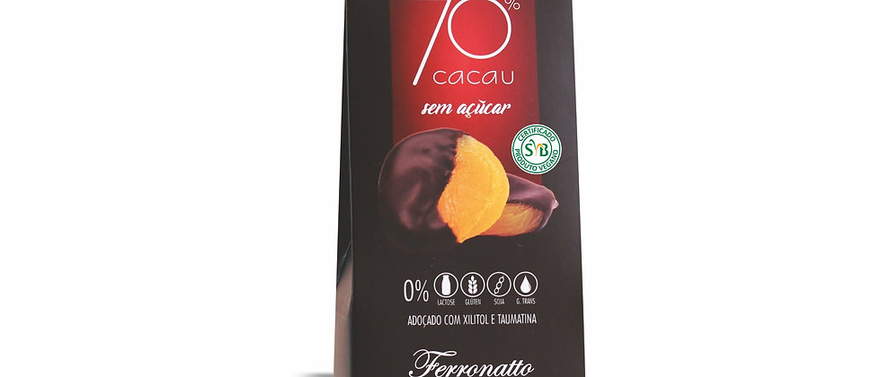 Damasco no Chocolate Amargo 70% Cacau Zero Açúcar - 80g