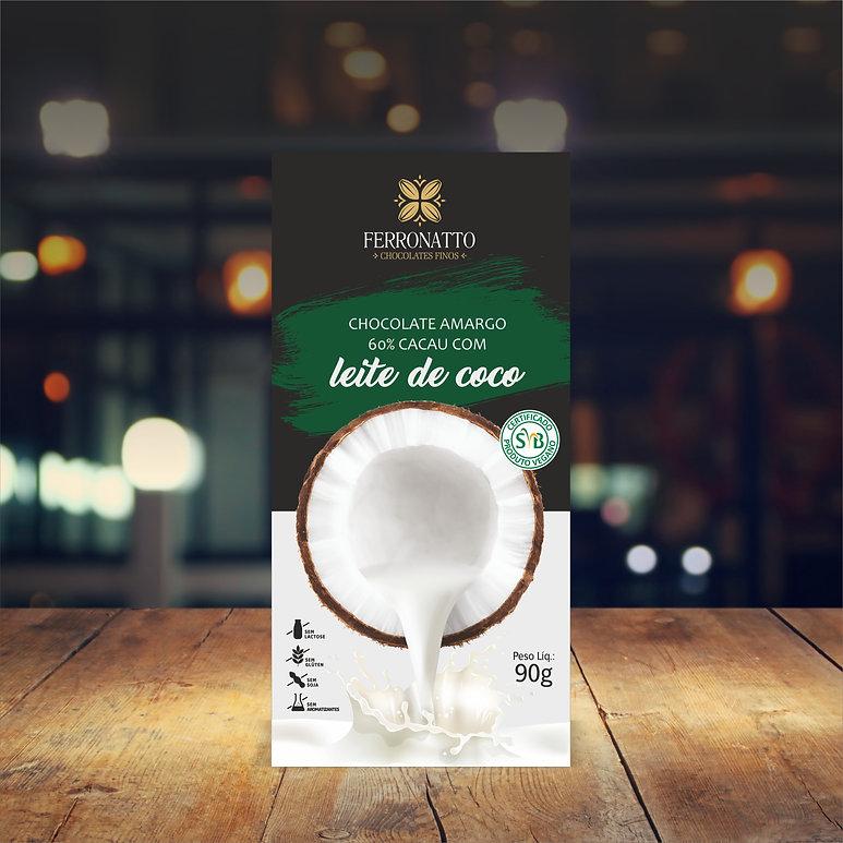 Barra Chocolate 60% cacau com Leite de C