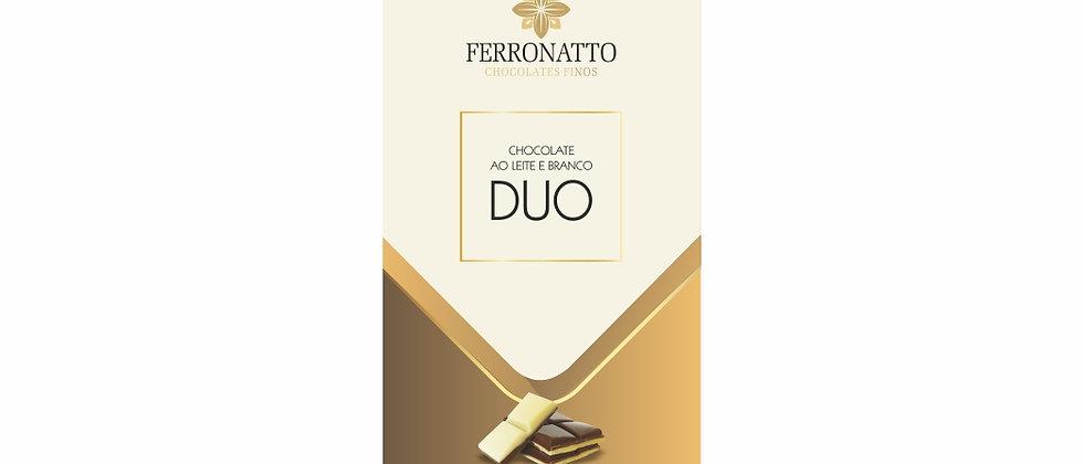 DUO - Barra Chocolate Ao Leite e Branco - 80g