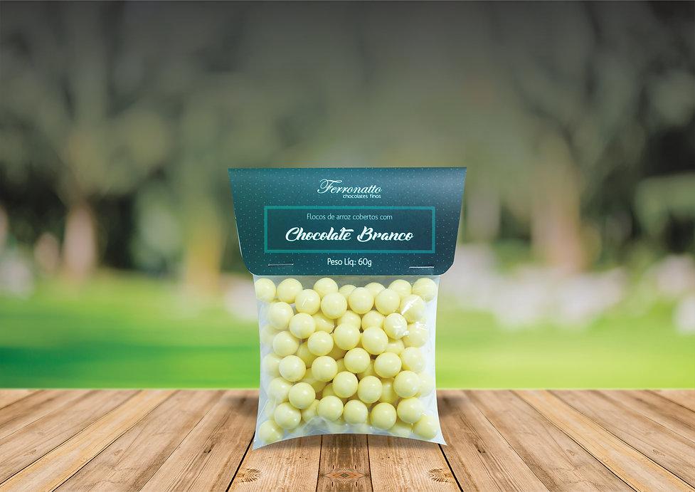 drágea chocolate branco