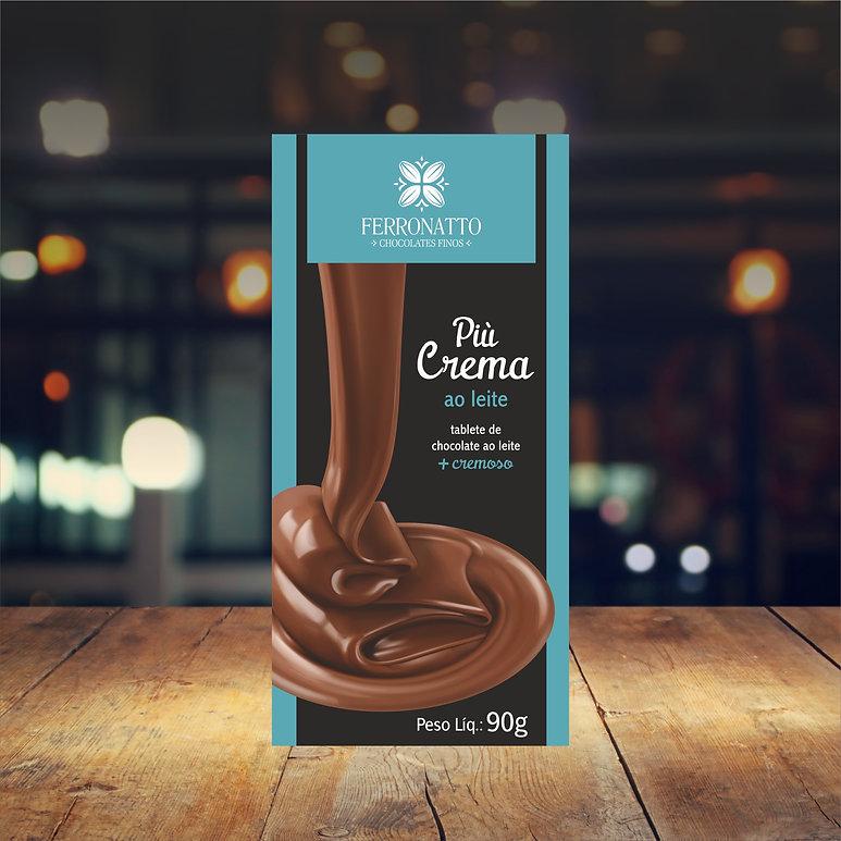 Barra Pio Crema chocolate ao leite 90g.j
