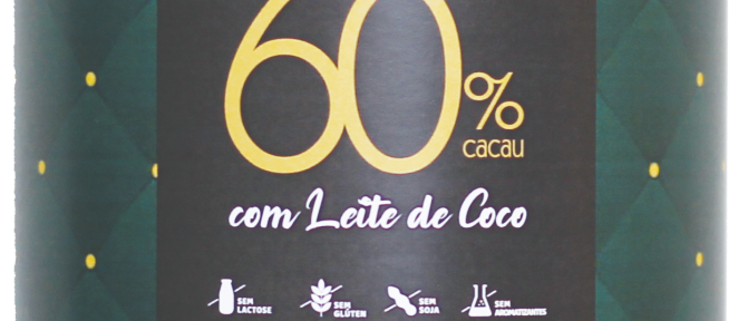 Ovo de Chocolate Amargo 60% Cacau com Leite de Coco - 200g