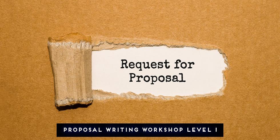Proposal Writing Workshop Level I 3/21