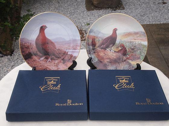 ロイヤルドルトン絵皿2枚セット