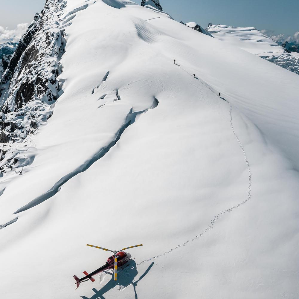 Helicopter Glacier Landing