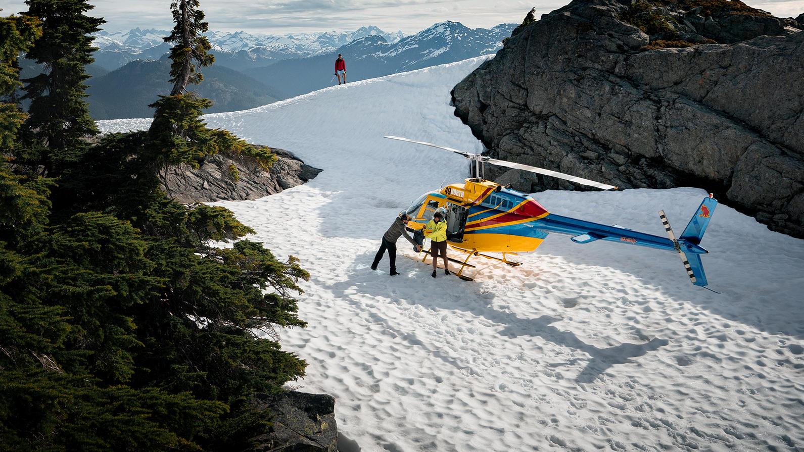 Heli Glacier Landing