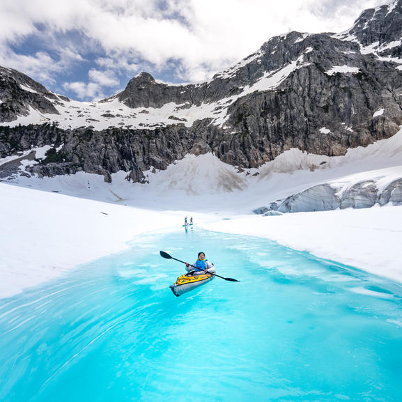 Helicopter Glacier Paddle
