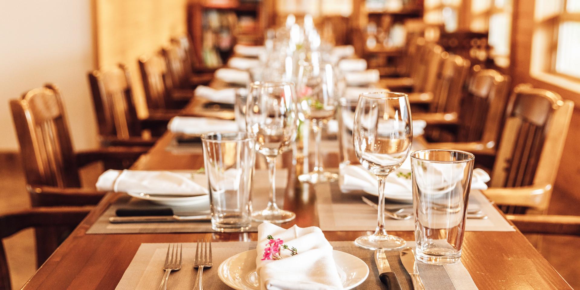 Dining Room at Klahoose Wilderness Resort