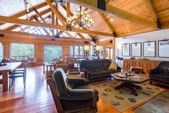 Klahoose Wilderness Resort great room.jp