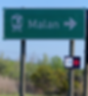 Malan railway sign.png
