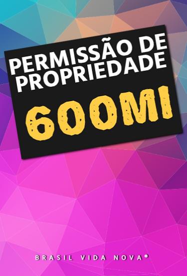 TÍTULO DE PROPRIEDADE $600.000.000
