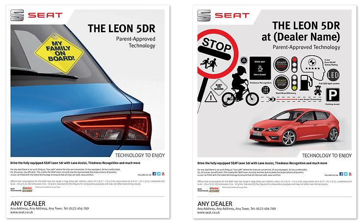 SEAT magazine advert designs