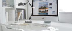 Creative design on Apple mac screen