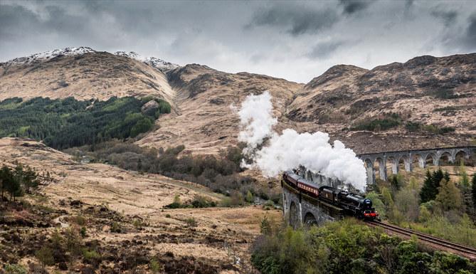 The Jacobite Steam Train on the Glenfinn