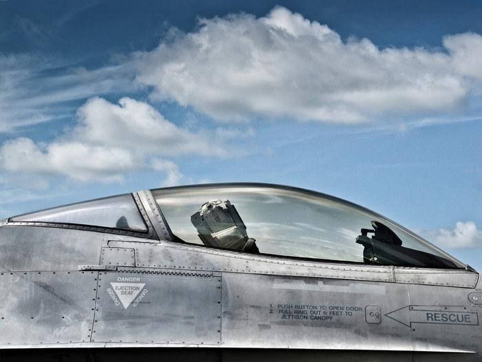 F-16 fighter jet canopy
