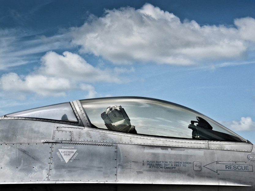 F-16 fighter jet canopy